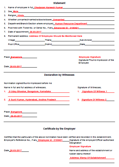 form f nomination of gratuity pdf Sample filled gratuity form f, how to fill gratuity form f, download gratuity nomination form f, guidelines to fill gratuity nomination form f.