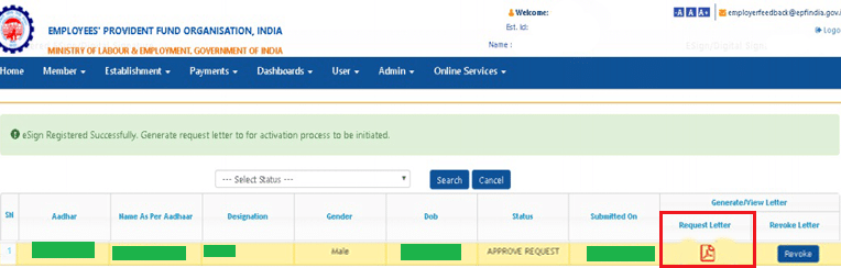How To Register Aadhar Based E Sign At PF Unified Portal