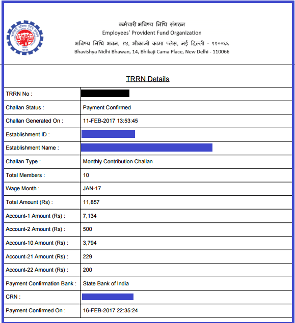Epf ssn form download.